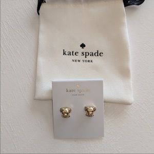NWT ♠️ Kate Spade ♠️ Gold Puppy Dog Earrings